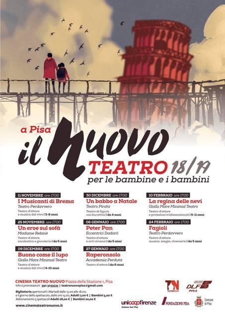 Nasce a Pisa il nuovo Teatro per le bambine e i bambini