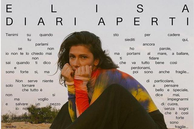 Elisa e il suo nuovo album Diari Aperti in concerto con due date la Teatro Verdi di Firenze