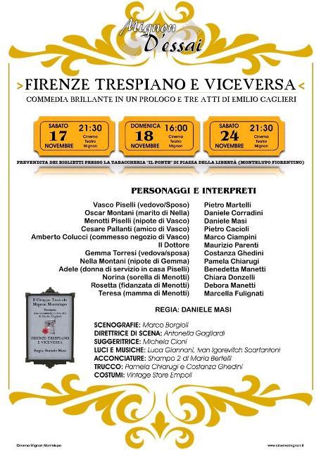 Programmazione Mignon D'Essai non solo il film Quasi Amici ma anche la commedia Firenze Trespiano e viceversa