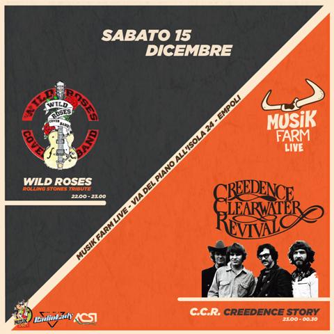 Terzo appuntamento a Musik Farm Live sul palco due Tribute Band Empolesi: Wild Roses e i C.C.R Creedence Story