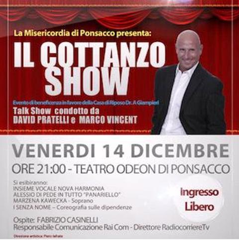 Il Cottanzo Show arriva a Ponsacco, gala di Beneficenza
