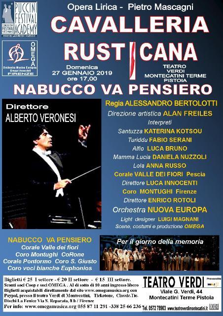 Cavalleria Rusticana con il direttore Alberto Veronesi al Teatro Verdi di Montecatini Terme