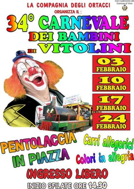 Carnevale dei Bambini a Vitolini 34^ edizione