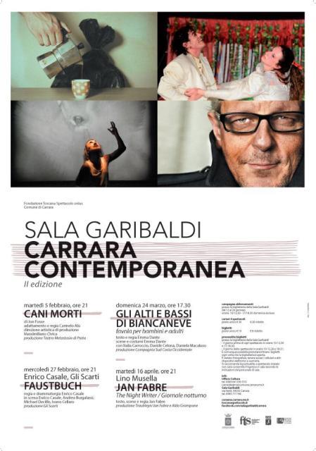 Carrara Contemporanea la rassegna sulle produzioni del teatro di oggi nella sala Garibaldini
