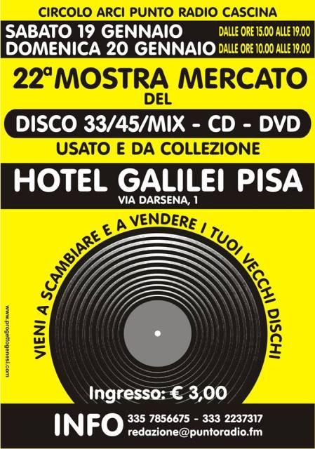 Fiera del disco CD e DVD usato e da collezione presso l'Hotel Galilei