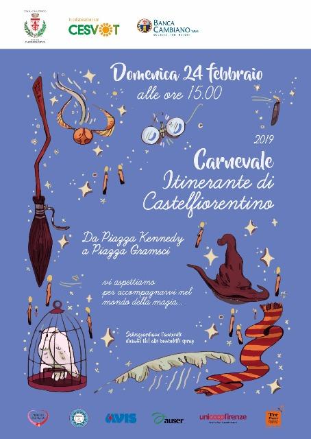 Il magico mondo di Harry Potter al Carnevale Itinerante di Castelfiorentino