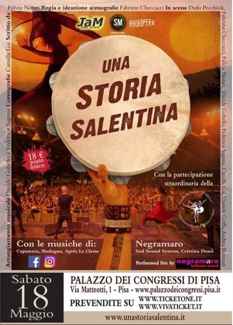 Una Storia Salentina, uno spettacolo dedicato alla Puglia e alla sua cultura musicale a Palazzo dei Congressi