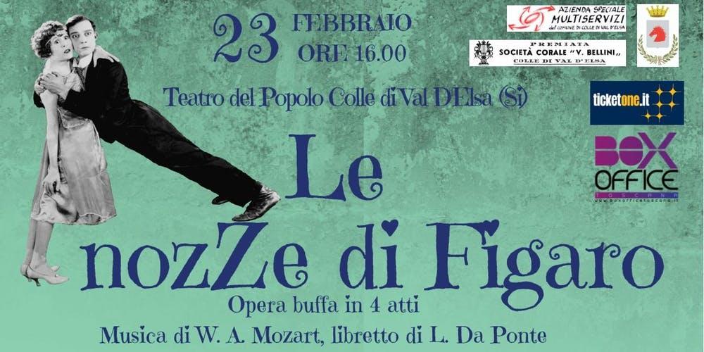 Le Nozze di Figaro di Wolfgang Amadeus Mozart al Teatro del Popolo
