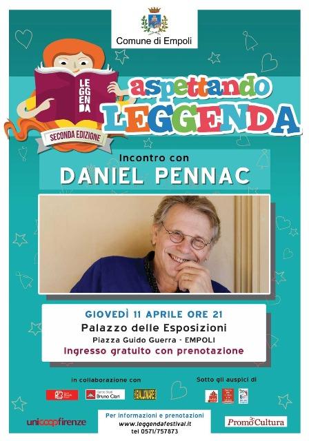 Leggenda è già speciale! Ospite d'onore Daniel Pennac, lo scrittore francese autore di libri tradotti e venduti in tutto il mondo