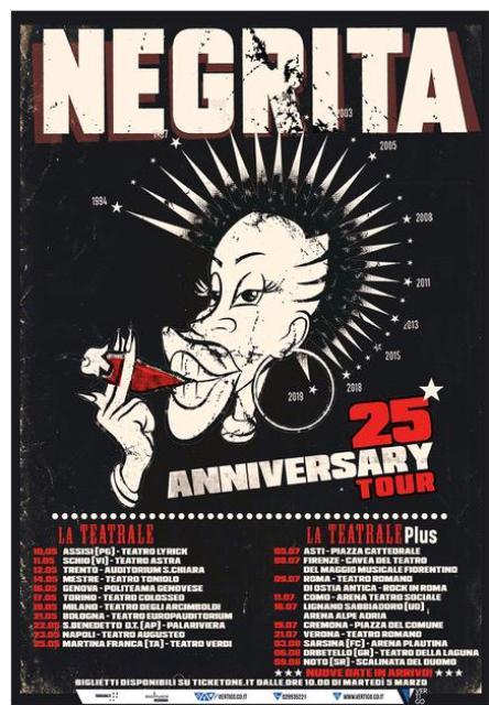 Negrita 25th Anniversary Tour in concerto alla Cavea Teatro Del Maggio Musicale Fiorentino
