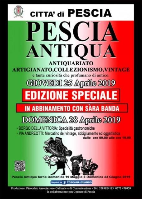 Pescia Antiqua domenica 28 aprile con edizione speciale giovedì 25 aprile
