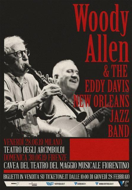 Woody Allen & The Eddy Davis New Orleans Jazz Band alla Cavea del Teatro del Maggio Musicale Fiorentino