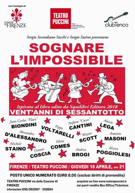 Sognare l'Impossibile ispirato al libro edito da Squilibri Editore Vent'anni di Sessantotto al Teatro Puccini