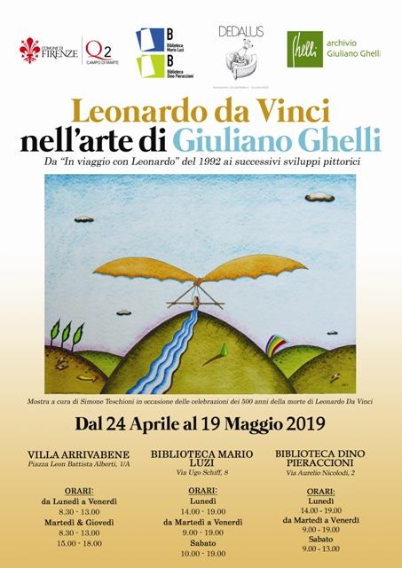 Leonardo da Vinci nell'arte di Giuliano Ghelli al Villa Arrivabene e all'interno delle biblioteche del Quartiere 2