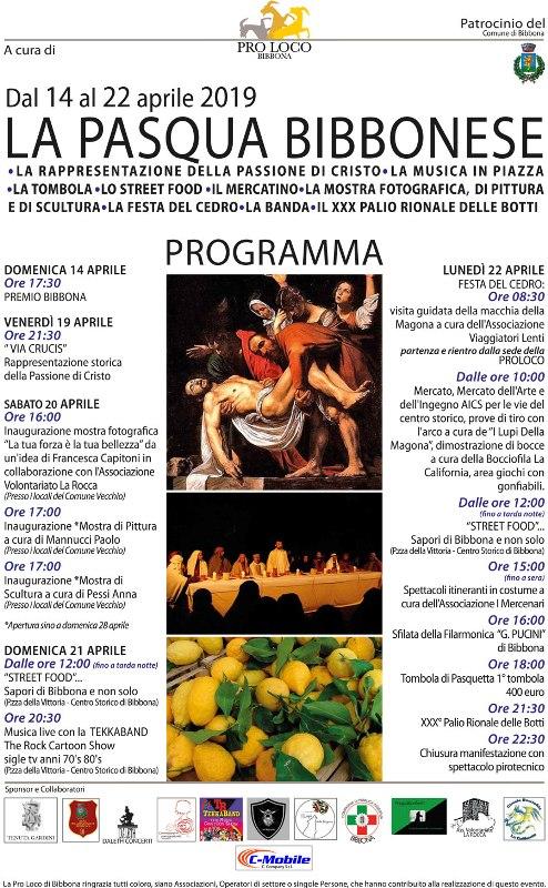 Pasqua bibbonese, si inizia venerdì con la rappresentazione teatrale della Via Crucis. Tutti gli appuntamenti in programma