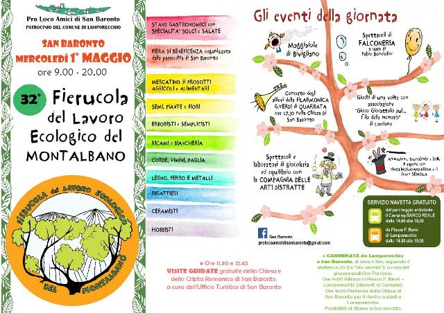 La Fierucola del lavoro ecologico del Montalbano a San Baronto