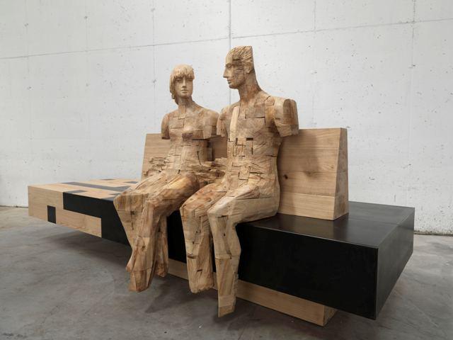Giorgio Conta. Scolpire un territorio. Le figure lignee dell'artista trentino invadono Lu.C.C.A. Lounge & Underground