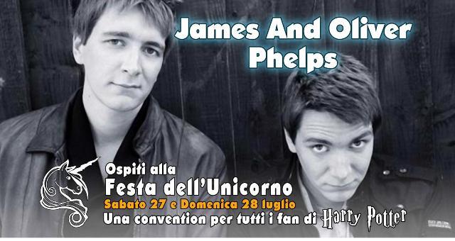 La magia si accende alla Festa dell'Unicorno 2019 con James e Oliver Phelps, conosciuti come i gemelli Weasley della saga cinematografica di Harry Potter