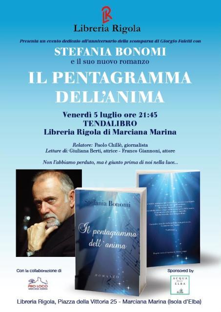 Presentazione del Libro Il Pentagramma dell'anima di Stefania Bonomi, un evento dedicato all'anniversario della scomparsa di Giogio Faletti