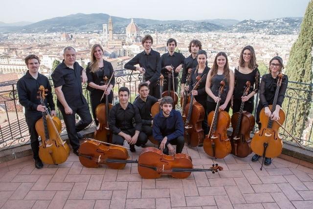 I Florence Cello Ensemble in concerto con il violinista empolese Damiano Tognetti