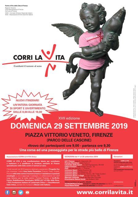 """Corri La Vita, nuovi percorsi e """"testimonial grafico"""" nel segno di Leonardo. Rosa il colore della maglia 2019"""