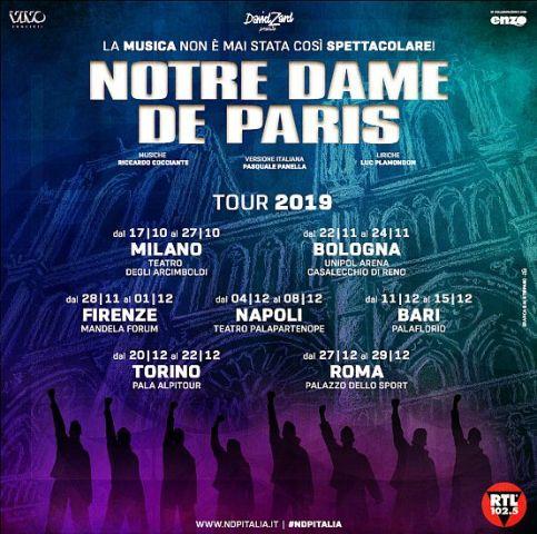 Notre Dame De Paris al Nelson Mandela Forum