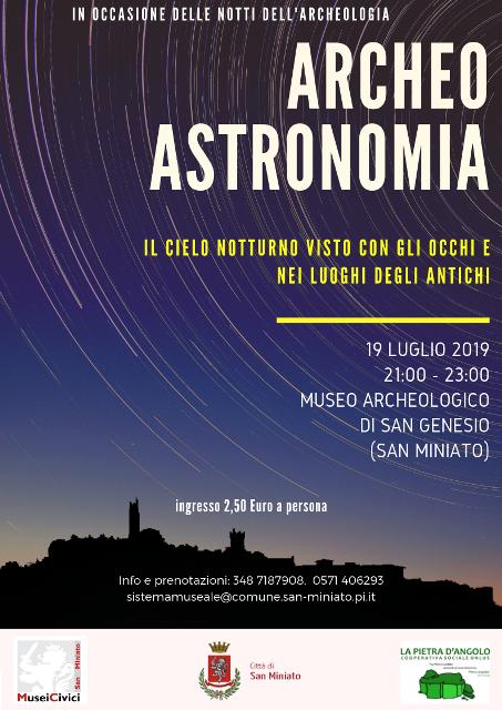 Archeoastronomia – Il cielo visto con gli occhi e nei luoghi degli antichi  con i Musei Civici di San Miniato