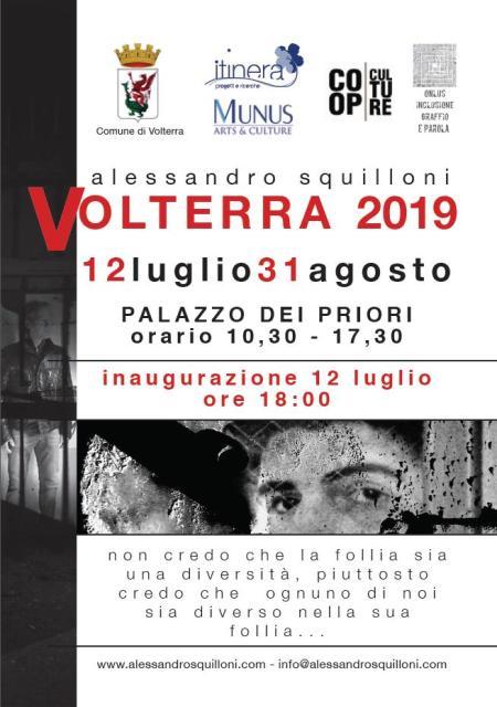 Alessandro Squilloni in mostra a Palazzo dei Priori di Volterra