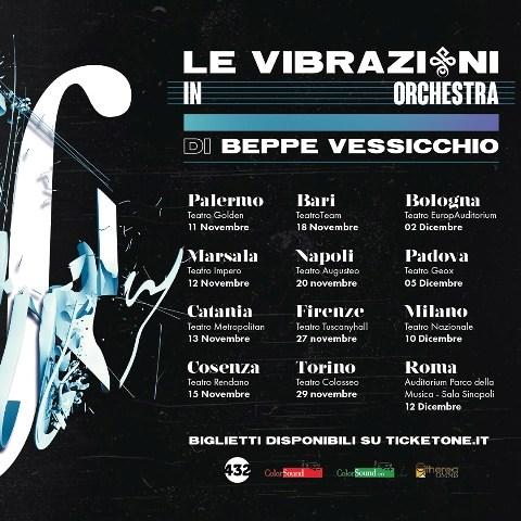 Aperte le iscrizioni al bando per suonare con l'orchestra Sesto Armonico del Maestro Peppe Vessicchio nel nuovo tour Le Vibrazioni