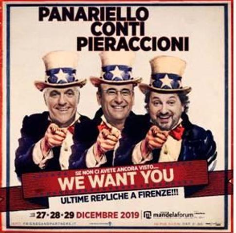 Panariello, Conti e Pieraccioni il trio delle meraviglie ritorna a Firenze al Mandela Forum