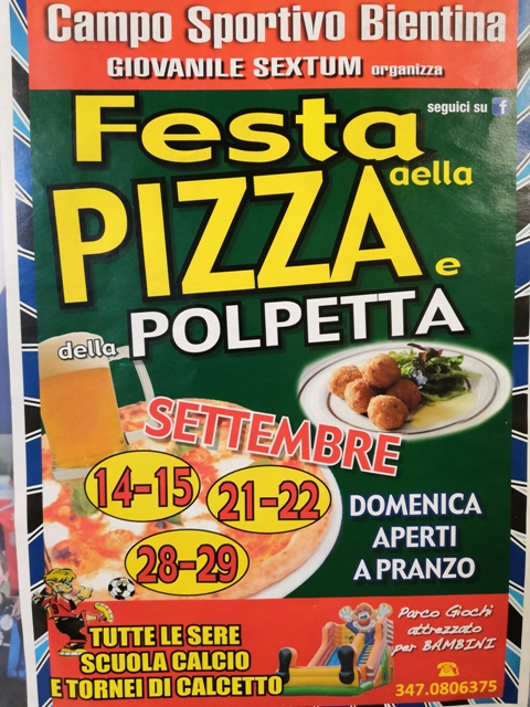 Festa della Pizza e Polpette a Bientina