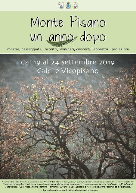 Monte Pisano, un anno dopo, dal 19 al 24 settembre 2019 a Calci e Vicopisano