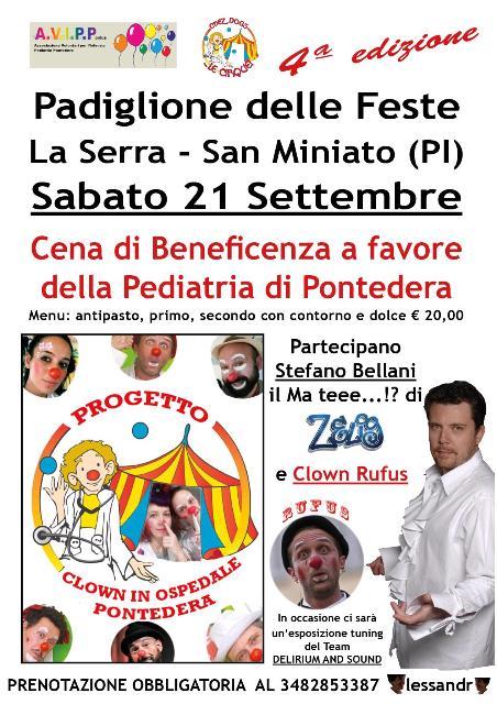 Cena di Beneficenza a favore della Pediatria di Pontedera
