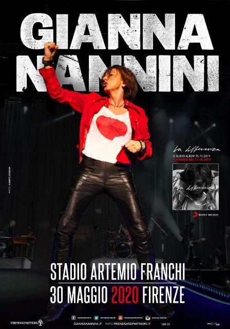 Gianna da Stadio, un grande concerto di Gianna Nannini allo Stadio Artemio Franchi