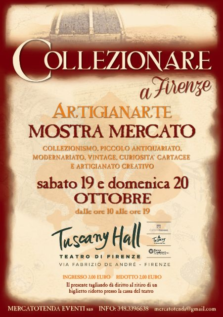 Collezionare a Firenze – Artigianarte 2019 al Tuscany Hall