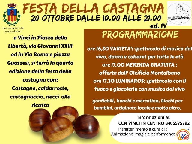 Festa della Castagna a Vinci – IV edizione