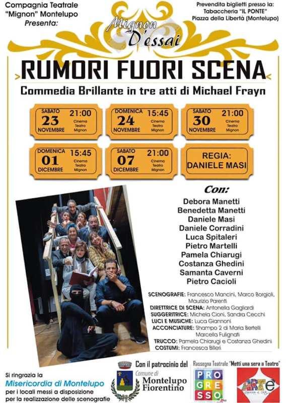 Rumori Fuori Scena, commedia brillante in tre atti di Michael Frayn al Cinema Teatro Mignon