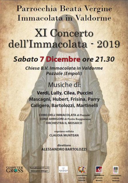 Concerto dell'Immacolata nella chiesa della Beata Maria Vergine in Valdorme al Pozzale