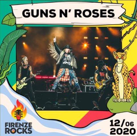 Guns N' Roses unica data Italiana a Firenze Rocks