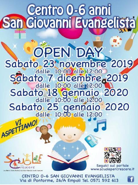 Open Day al Centro per l'Infanzia San Giovanni Evangelista di Empoli