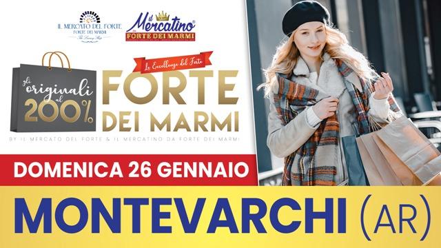 Il mercatino da Forte dei Marmi a Montevarchi, giornata evento con i saldi del Forte