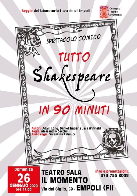 Tutto Shakespeare in 90 minuti al Teatro Il Momento