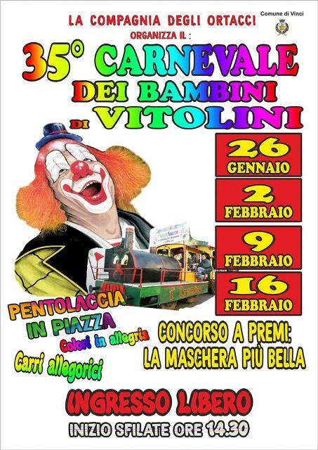 E' arrivato il 35^ Carnevale dei Bambini di Vitolini