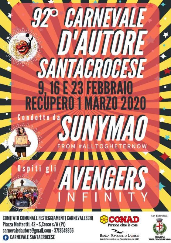 Carnevale D'Autore Santacrocese 92^ edizione