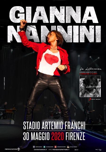 Gianna Nannini in un concerto speciale allo Stadio Artemio Franchi