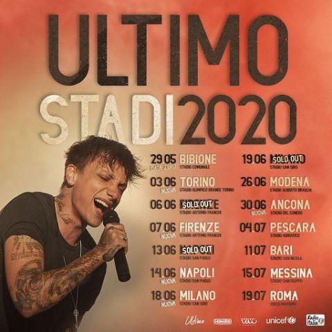 Ultimo Tour negli stadi 2020 con due date allo Stadio Artemio Franchi, rimandato al 2021