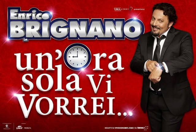 Un'ora sola vi vorrei, lo spettacolo teatrale di Enrico Brignano al Teatro Verdi