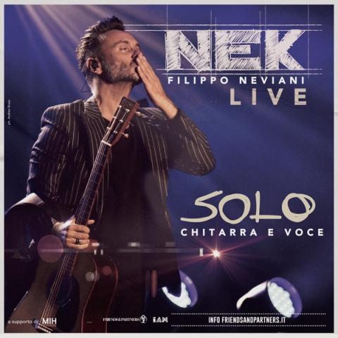 Nek torna dal vivo con degli speciali appuntamenti live Solo: Chitarra e voce a Peccioli, Castiglioncello e Forte dei Marmi