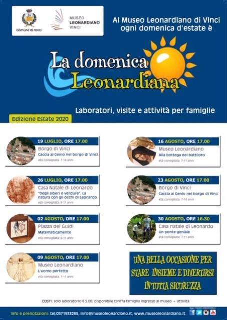 La Domenica Leonardiana: un programma speciale per l'estate