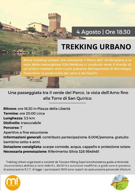 Il 4 agosto ultimo appuntamento con il trekking urbano a Montelupo